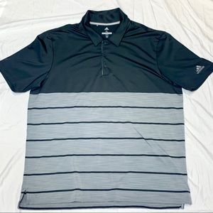Adidas Golf Striped  Heather Block Polo 🏌️🏽‍♂️XL